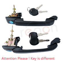2PCS New Front Door Handle With Lock & Keys For VW Jetta Golf MK3 (Right = Left)