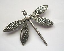 Large Art Nouveau Victorian Style DRAGONFLY Sterling Silver Pltd BROOCH PIN