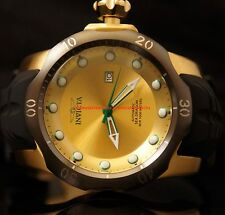 Invicta Mens Venom Sea Dragon Automatic 18KT Gold-Plated SS Rubber Strap Watch
