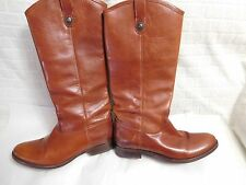 Frye 'Melissa Button' Leather Riding Boot (Women) Sz 10 B