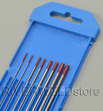 2% Thoriated WT20 Red TIG Welding Tungsten Electrode Assorted Size 1.0~3.2mm,8PK