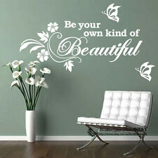 Be Your Own Kind Of BEAUTIFUL ~ Removable Wall Art Sticker Quote Vinyl Decal DIY