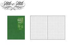 Midori Grid Notebook | Refill Midori 002 | Traveler's Notebook Passport Size PP