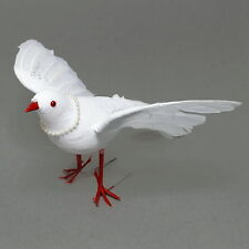 Dove flying, white with beads, Wedding, 25cm big