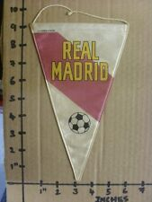 circa 60/70's Real Madrid: Small Silk Style Pennant - Double Sided Design, Produ