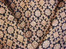 BRUNSCHWIG ET FILS EMBROIDERED ARABESQUE BEADED SILK UPHOLSTERY FABRIC