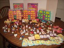 Vintage MEG Puppy In My Pocket 189 Piece Lot with 100 Pets-Dogs-Horses-Houses ++