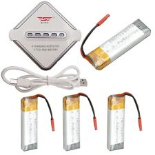 For UDI U818A U817 RC Quadcopter 3.7V 500mAh 4Pcs Battery With JST Charger Board