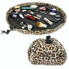 "Lay-n-Go Cosmo 20"" Cosmetic Travel Beauty Makeup Bag Organizer Leopard"