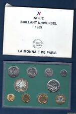 Coffret BU 1989 - 10 Pièces 1 Centime à 100 Francs RARE 1438 Exemplaires