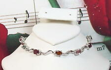 Natural Tourmaline With 925 Sterling Silver Bracelet. SS0017