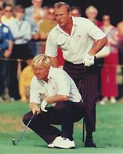 ARNOLD PALMER & JACK NICKLAUS 8X10 PHOTO GOLF PGA MASTERS US OPEN