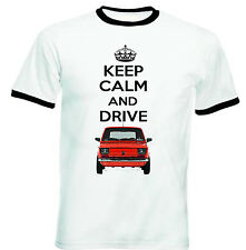 POLISH MALUCH RED FIAT 126P KEEP CALM - NEW COTTON TSHIRT - ALL SIZES IN STOCK