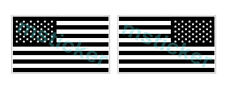 2x Black & White American US mirrored Flag Sticker Decal Car Truck Windows ATV
