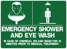 "Safety Sign ""EMERGENCY SHOWER AND EYE WASH 5mm corflute 300MM X 225MM"""