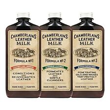 Chamberlain's 3-Formula Leather Conditioner, Cleaner and Protector Kit - 6 Oz