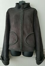 Avenue Brand Womens Suede Coat/Jacket with Fleece Lining uk16-18 Rrp£85