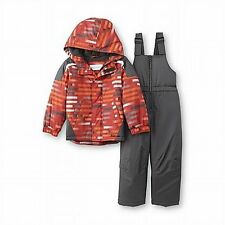 NWT $85 Toughskins Boy's Snowboarding Jacket & Snow bib 2T Snowsuit Winter Coat