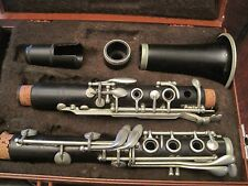 VTG NOBLET WOOD CLARINET NORMANDY W ORANGE PLASTIC  HARD CASE