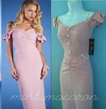 Stop Staring DRESS S Small Sexy WIGGLE BodyCon Pinup Vintage Rockabilly Pink NWT