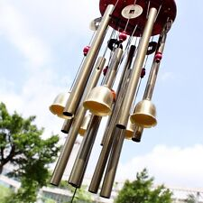 Garden Outdoor Lucky Wind Chime Noisemaker Windchime Bells Pavilion Copper Coin