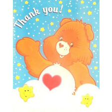 CARE BEARS Rainbow THANK YOU NOTES (8) ~ Birthday Party Supplies Stationery Card