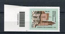 Italia 2015 Centenario terremoto della Marsica con codice a barre  Mnh