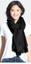 Nordstrom Women's Wool & Cashmere Wrap Black  $98 cgr