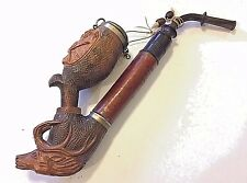 Antique W. Imhoff Cassel Pipe Wooden Carved Deer & Rabbit German Circa 1900s