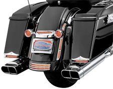 Kuryakyn Chrome Lighted Turn Signal Bar Filler Panel Smoked Lens Harley Bagger