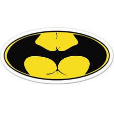 "Batass Funny Badass Adult Humor car bumper sticker decal 6"" x 3"""