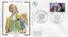 FRANCE FDC - 3120 2 LAGARDERE LE BOSSU - NEVERS 25 Octobre 1997 - LUXE sur soie