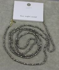 "NWT 60""  ann taylor loft signed jewelry long glass beads necklace chain"