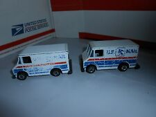 LOT 2 VTG 1976 HOT WHEELS US MAIL DELIVERY VANS TRUCKS BLACKWALL TIRES MALAYSIA