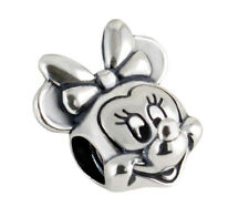 A minnie mouse disney European silver charms for bracelet chain necklace bangle