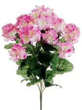 "17"" Artificial Geranium Bush Pink (Pack of 12)  Silk Flower Plants Decor"