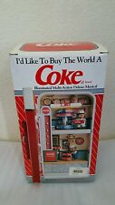 RARE NIB Enesco Coca-Cola Factory Multi-Action/Lights Vending Machine Music Box