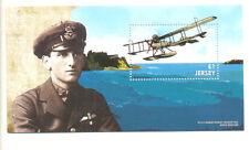 Jersey World War 1-Seaplane - Military min sheet mnh August 2015-Aviation
