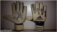 Guanti Adidas MatchWorn Gloves/Indossati Signed/Autografati SHAY GIVEN Newcastle