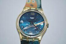 2003 Vintage Swatch Watch Gents GE-120 INTERGALACTIC CAT Free Shipping & Battery