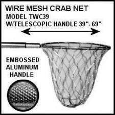 Tackle Factory Aluminum Wire Mesh Crab Net - Heavy Duty Galvanized Hoop