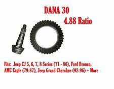 RING & PINION GEAR SET, DANA 30, 4.88 RATIO, 72-86 JEEP CJ, Ford, Volvo D30-488