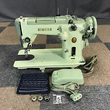 VINTAGE SINGER 319W SEWING MACHINE JADEITE GREEN TUNED UP SERVICED WORKS PERFECT