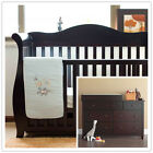 Walnut New Zealand Pine 3-in-1 Baby Sleigh Cot Bed & 7 Drawers Change Table Set