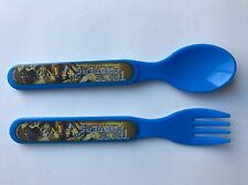 TRANSFORMERS Plastic Fork & Spoon Blue Optimus Prime Bumble Bee NEW