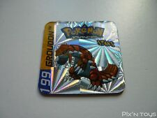 Magnet Staks Pokémon Advanced / 199 Groudon / Panini 2003 [ Neuf ]