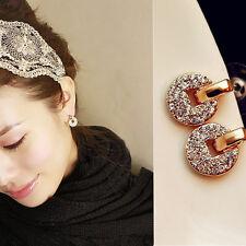 1 Paar Fashion Frauen  Elegant Kristall Strass Ohr  Bolze Ohrring Geschenk