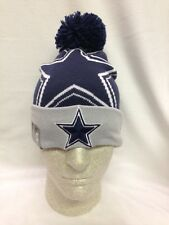 NFL Dallas Cowboys New Era Logo Wiz Cuff Cuffed Knit Hat with pom