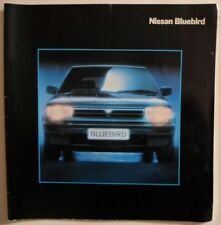 NISSAN BLUEBIRD RANGE orig 1989 UK Mkt Large Format Brochure - GS ZX Turbo GSX