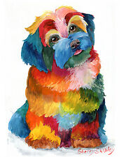 HAVA PUPPY Havanese 8x10 Print DOG Painting by Sherry
